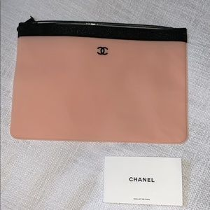 Authentic Peach Pink Chanel Pouch / Clutch